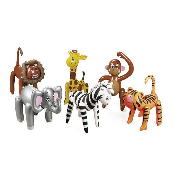 Aufblasbare Tiere Safari 6 Stück