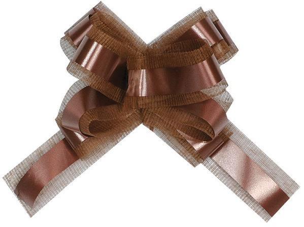 Ziehschleife Chocolate Braun 15cm x 25cm 5 Stück