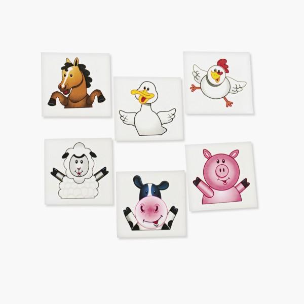 Kinder Tattoos Bauernhoftiere mit 6 verschiedenen Motiven 36 Stück