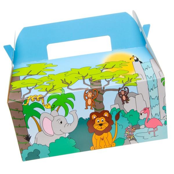Geschenkboxen Safari Partyboxen Mealboxen 6 Stück