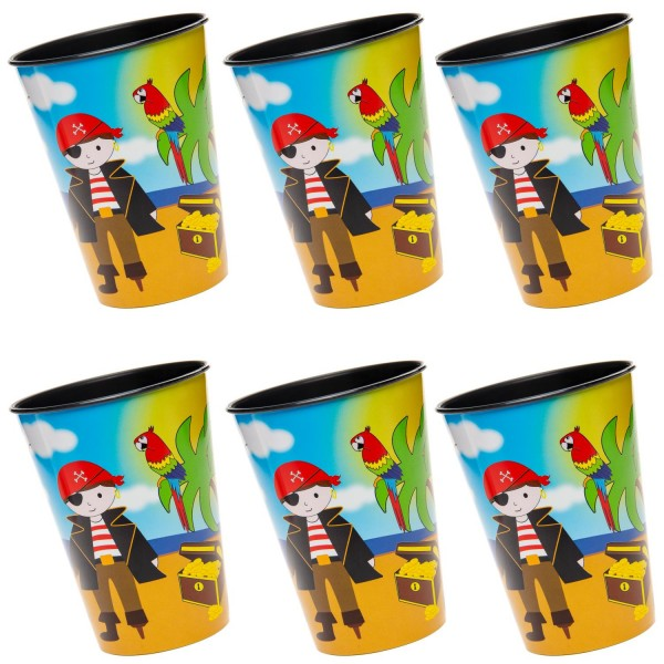 PiratenParty Kunststoff Becher 6 Stück