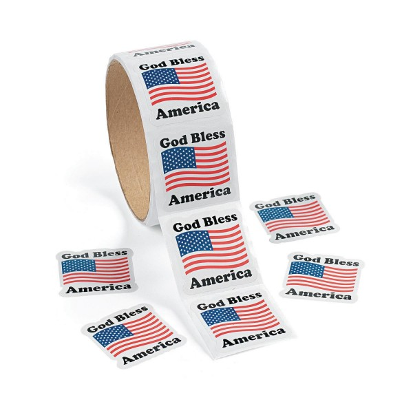 God bless America Aufkleber Sticker 100 Stück