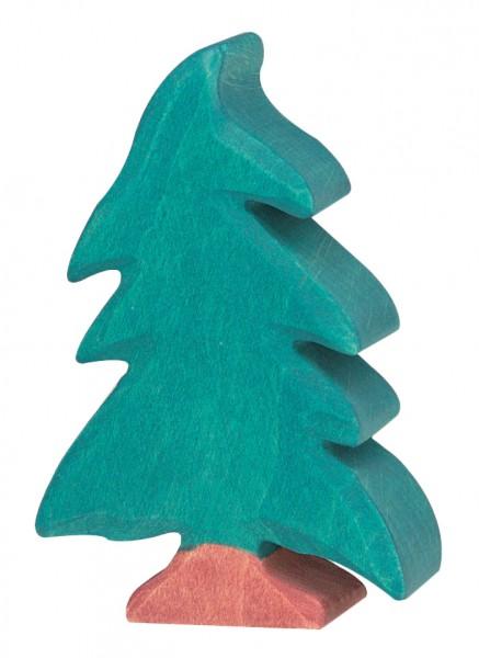 Holztiger Tanne Baum Nadelbaum klein