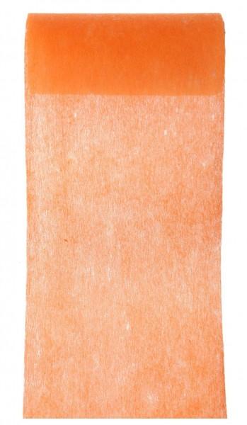 Tischband orange Vlies 10cm x 10m