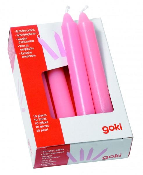 Geburtstagskerzen in rosa 10 Stück von goki