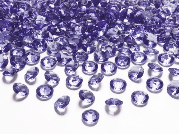 Dekosteine Diamanten blau lila 100 Stück 12mm Durchmesser