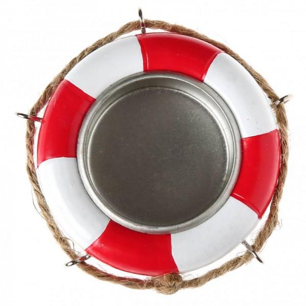 Teelicht Rettungsring Maritime Tischdeko aus Resin