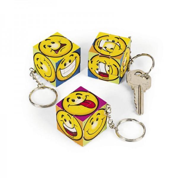 Smiley Schlüsselanhänger Zauberwürfel Mitgebsel 12 Stück