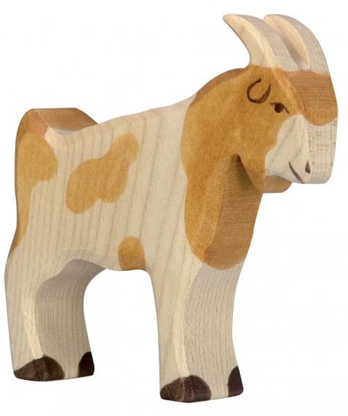 Ziegenbock Holzfigur Holzspielzeug von Holztiger