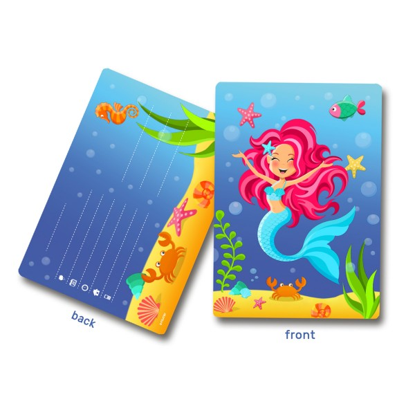 Meerjungfrauen Nixen Einladungskarten 8 Stück