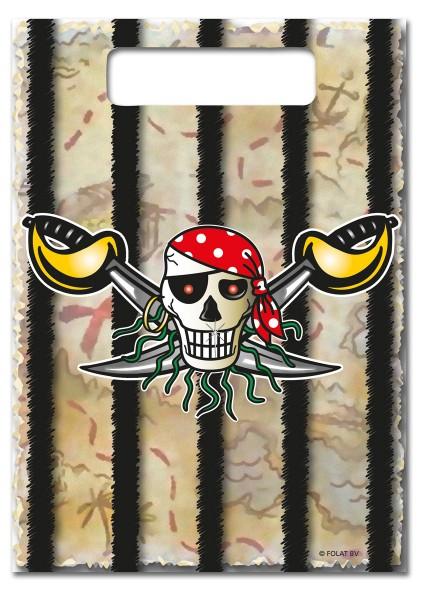 Red Pirat Geburtstagstüten Piraten Party 8 Stück