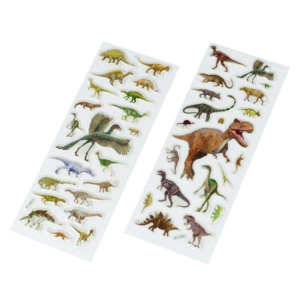 Dinosaurier Dino Gel-Sticker Aufkleber 40 Stück