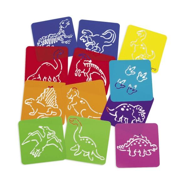 Dinosaurier Schablonen 12 Stück