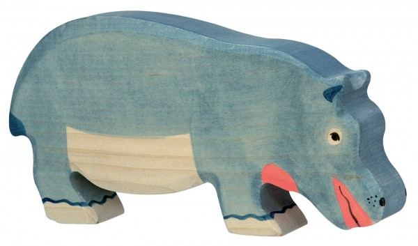 Nilpferd fressend Safari Holzfigur Holzspielzeug von Holztiger