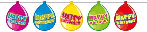 Happy Birthday Luftballon Wimpelkette Girlande Geburtstag