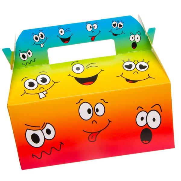 Emoji Geschenkboxen Partyboxen lachende Fratzen 6 Stück