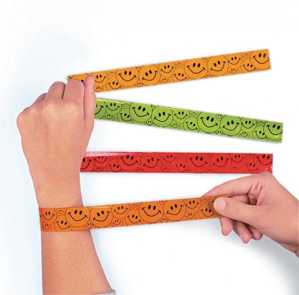 Smiley Schnapp Armbänder Mitgebsel 12 Stück