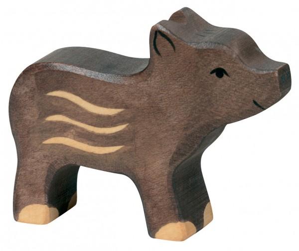 Frischling Waldtier Holzfigur Wildsau Ferkel Holzspielzeug von Holztiger