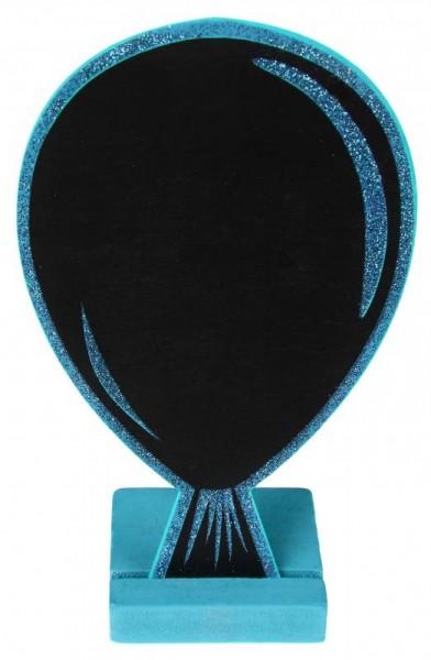Tischtafel Ballon blau 1 Stück Platztafel Menütafel