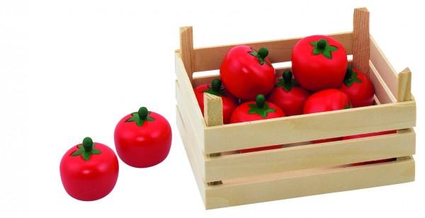 Tomaten in Gemüsekiste für Holzküche Holzkinderküche