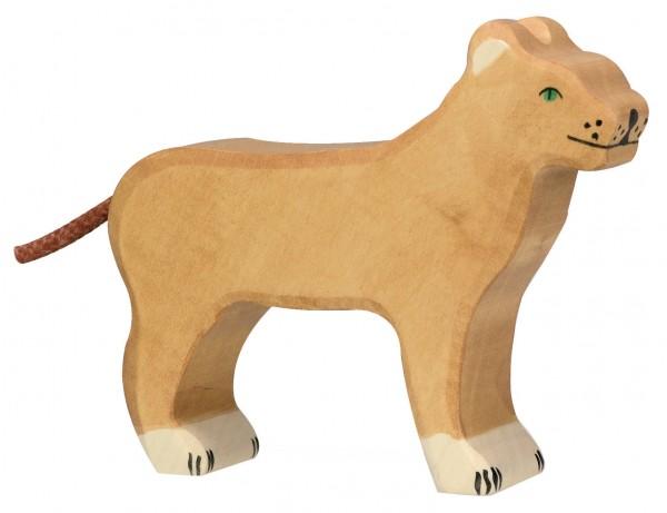 Holztiger Löwin Safari Holzfigur