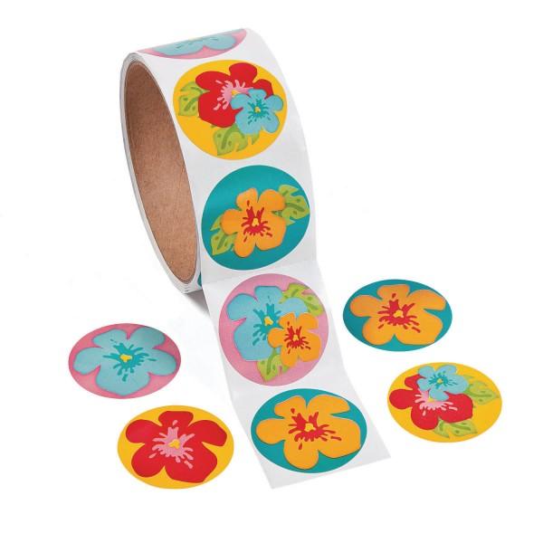 Hibiskus Blüten Blumen Aufkleber Sticker 100 Stück