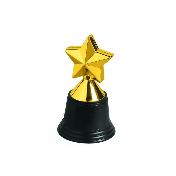 Pokale Trophäe Stern goldfarben 6 Stück