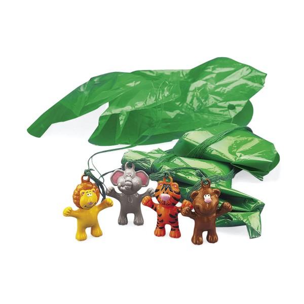 Safari Dschungel Spielfiguren mit Fallschirm 12 Stück