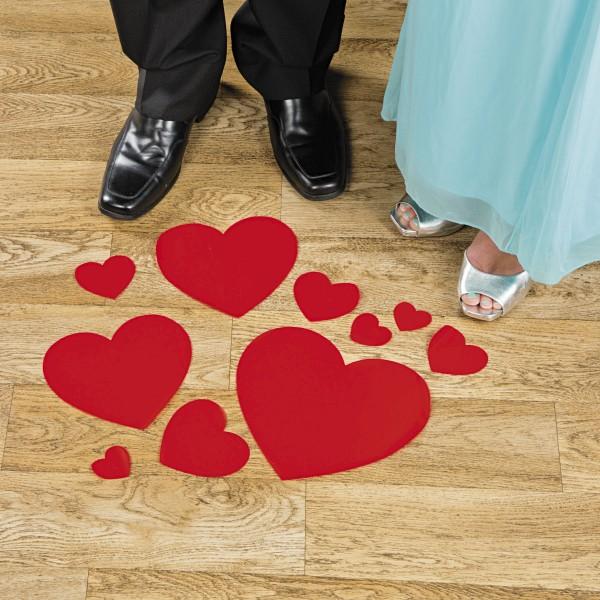 Hochzeit rote Herzen Aufkleber Bodendekoration
