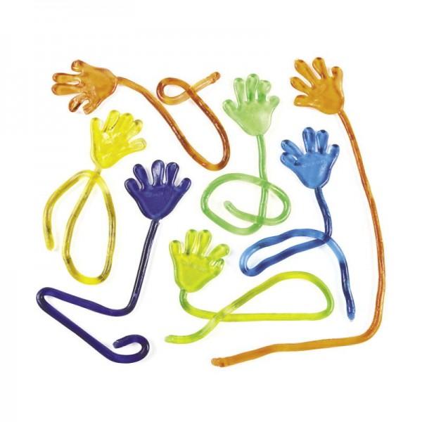 Klebrige Hand Hände zum werfen Mitgebsel 12 Stück