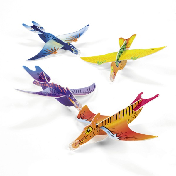 Dinosaurier Flugsaurier Gleiter Flieger 48 Stück