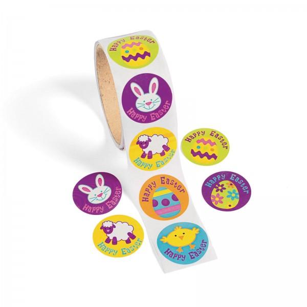 Lustige Oster-Hasen Küken Ostereier Aufkleber Sticker 100 Stück