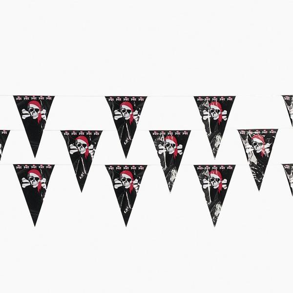 Piraten Girlande Wimpelkette über 30m lang