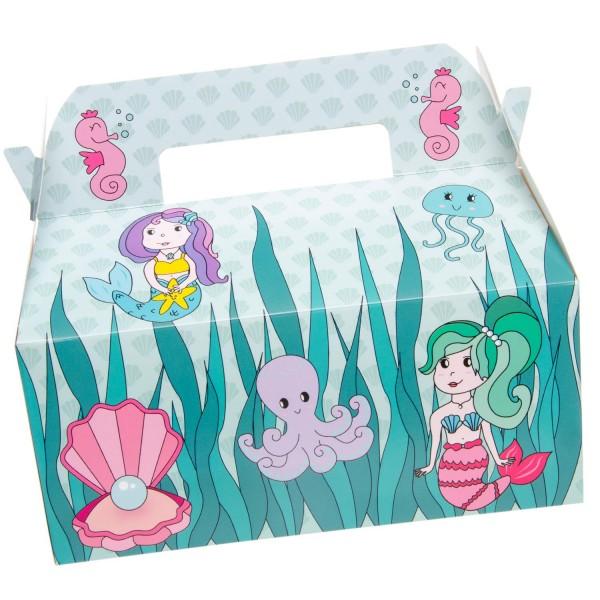 Meerjungfrau Nixen Geschenkboxen Partyboxen 6 Stück
