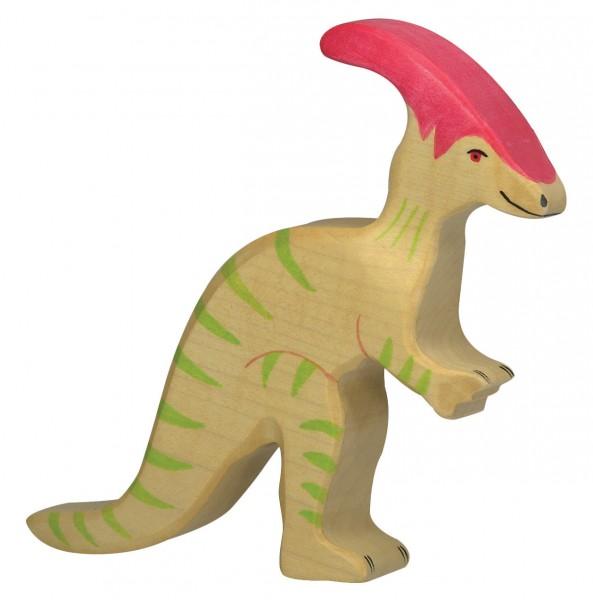 Parasaurolophus Dino Holzfigur Holzspielzeug von Holztiger