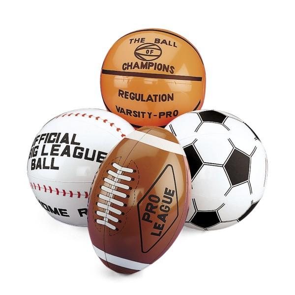 Aufblasbarer Football Basketball Baseball Fußball 4 Stück groß