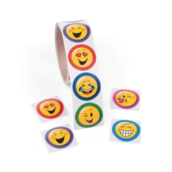 Emoji Smiley Aufkleber Sticker 100 Stück