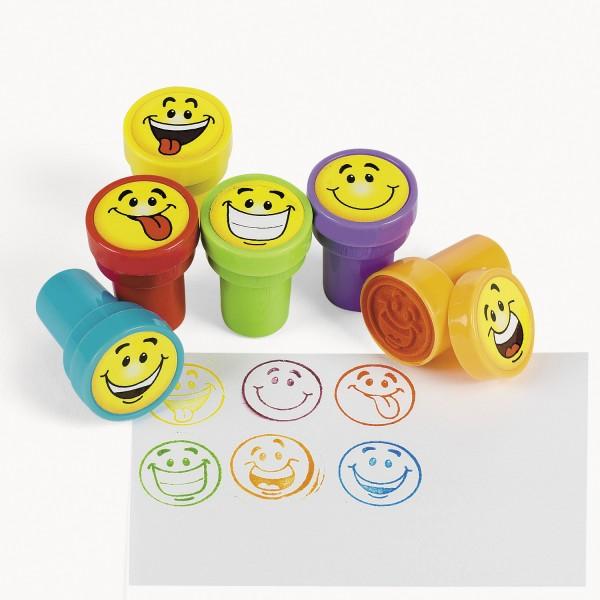Kinderstempel Smileys mit 6 verschiedenen Motiven