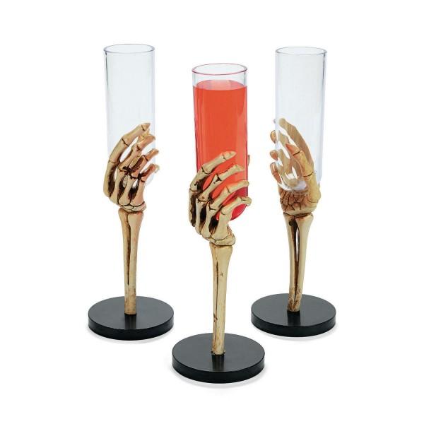 Halloween Skelett Sektgläser Sektflöten Gläser 6 Stück