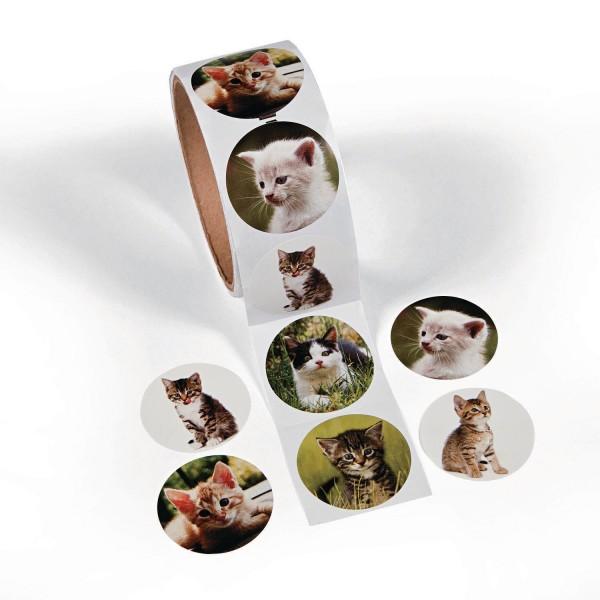 Katzen Aufkleber Sticker 100 Stück