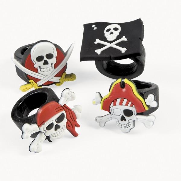 Piraten Ring 12 Stück in 4 Motiven