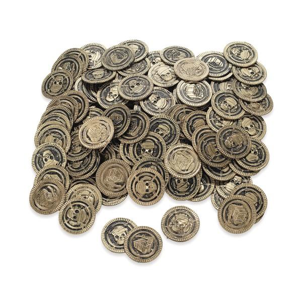Piraten Totenkopf Goldmünzen Goldtaler 144 Stück