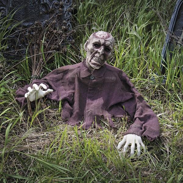 Halloween Zombie-Gehirn Bodendeko für Horror Grusel Party