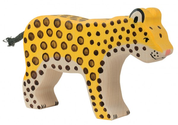 Leopard Safari Holzfigur Holzspielzeug von Holztiger