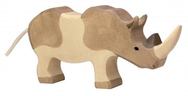 Nashorn Safari Holzfigur Holzspielzeug von Holztiger