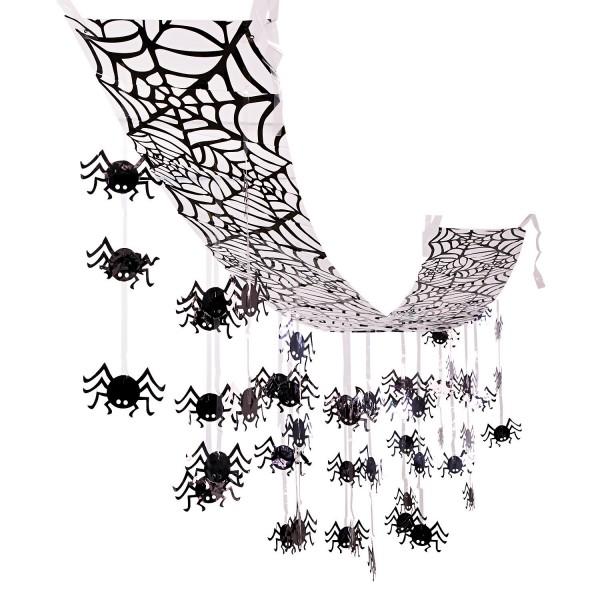 Halloween Hängedeko Spinnennetz Spinnen