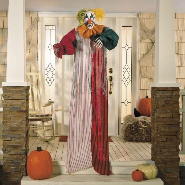 Halloween Horror Clown Hänge-Deko mit LED Augen ca. 182cm