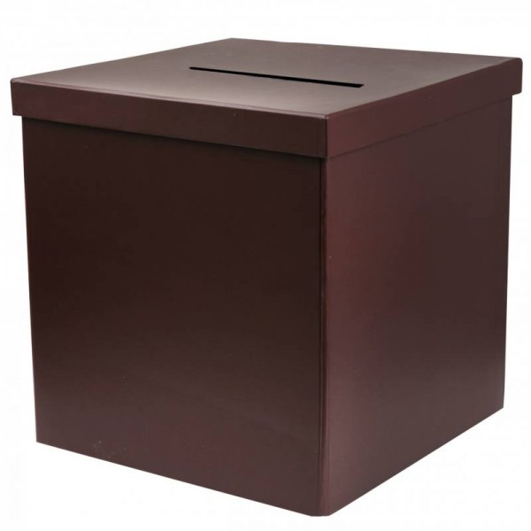 Box für Geldgeschenke Umschläge Tombola Verlosung in braun