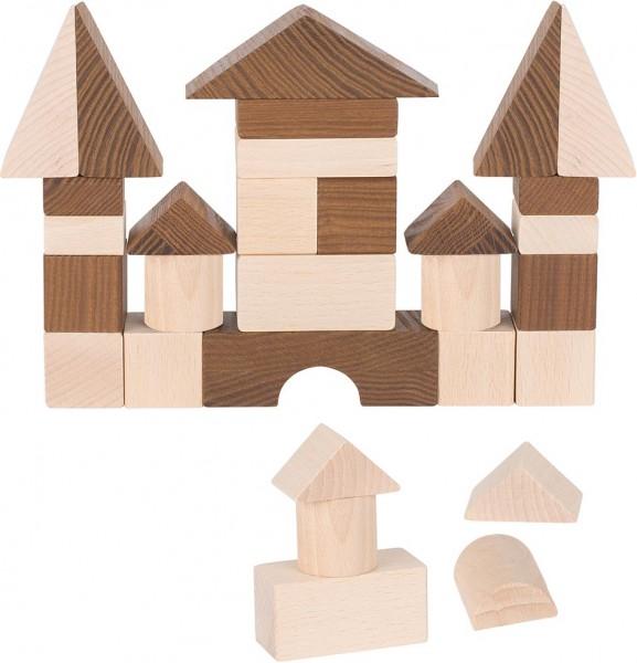 Bauklötze Bausteine aus Holz 30 Stück von goki nature