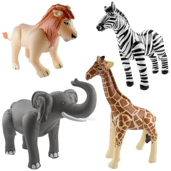Aufblasbare Afrika-Dschungel-Safari-Tiere Löwe Elefant Giraffe Zebra